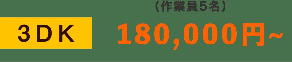3DKで180,000円